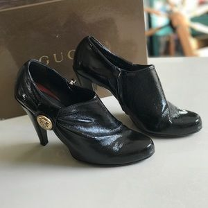 Gucci Hysteria Patent Leather Booties Sz 40